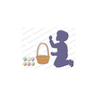 Die Impression Obsession - Boy with Easter Basket