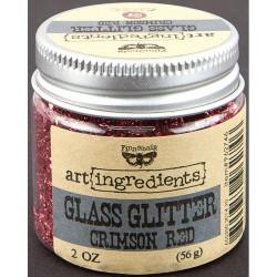 Glass Glitter - Art Ingredients - Crimson Red