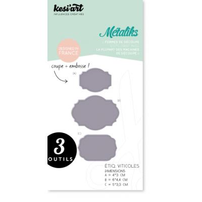 Dies MetaliKs - Étiquettes Viticoles