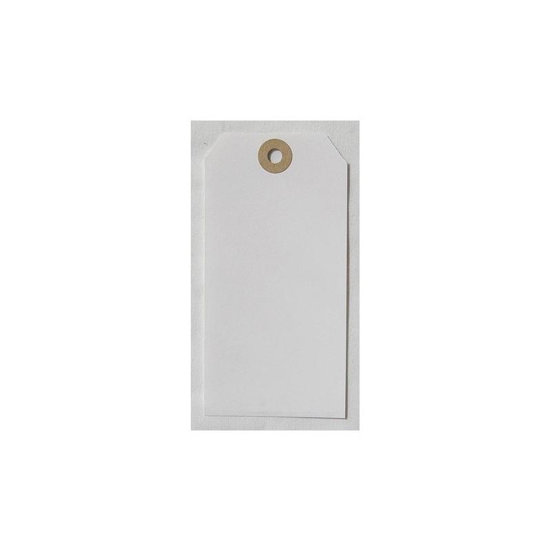 Etiquettes américaines 6x12 cm - Blanc (Lot de 10)
