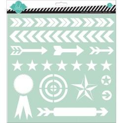 Mask Heidi Swapp - Arrows (grand format)